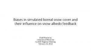 Biases in simulated boreal snow cover and their