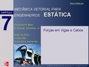 Nona Edio MEC NICA VETORIAL PARA CAPTULO 7