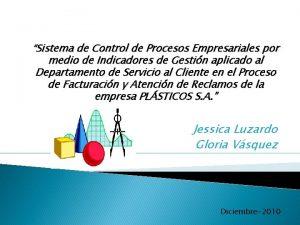 Sistema de Control de Procesos Empresariales por medio