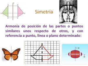 Simetra Armona de posicin de las partes o