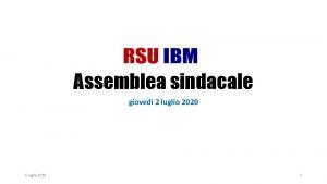 Assemblea sindacale gioved 2 luglio 2020 1 Ordine