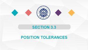 SECTION 3 3 POSITION TOLERANCES Position Tolerances Position