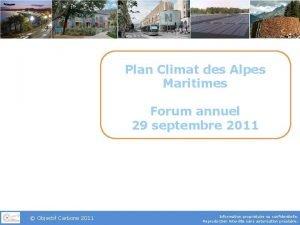 Plan Climat des Alpes Maritimes Forum annuel 29