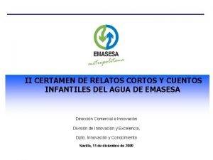 II CERTAMEN DE RELATOS CORTOS Y CUENTOS INFANTILES