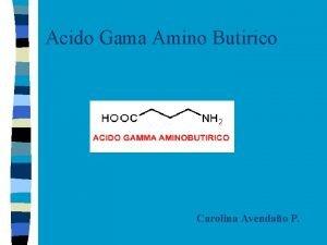 Acido Gama Amino Butirico Carolina Avendao P Aspectos