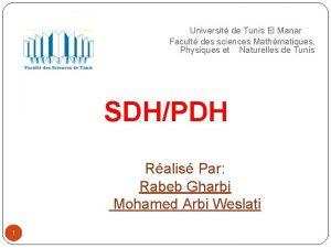 Universit de Tunis El Manar Facult des sciences