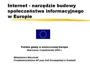 Internet narzdzie budowy spoeczestwa informacyjnego w Europie Polskie