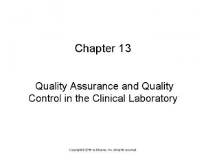 Chapter 13 Quality Assurance and Quality Control in