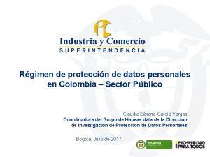 Rgimen de proteccin de datos personales en Colombia