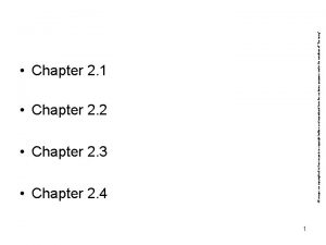 Chapter 2 2 Chapter 2 3 Chapter 2