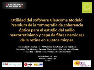 Utilidad del software Glaucoma Modulo Premium de la