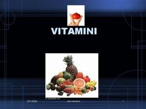 VITAMINI 22112020 alen vukeli dr 1 Vitamini koje