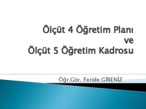 lt 4 retim Plan ve lt 5 retim