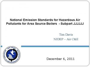 National Emission Standards for Hazardous Air Pollutants for
