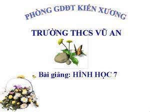 TRNG THCS V AN Bi ging HNH HC