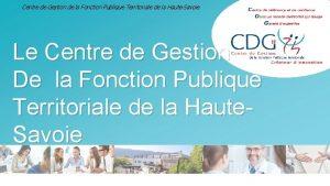 Centre de Gestion de la Fonction Publique Territoriale