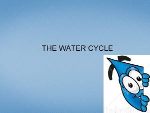THE WATER CYCLE The WATER CYCLE Model of