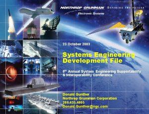 Copyright 2003 Northrop Grumman Corporation 0 23 October