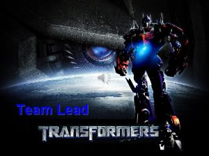 Team Lead Team Lead Transformers After attending the