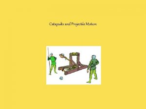Catapults and Projectile Motion Thought Question Two balls