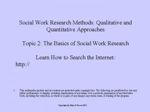 Social Work Research Methods Qualitative and Quantitative Approaches