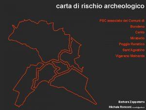 carta di rischio archeologico PSC associato dei Comuni