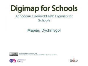 Adnoddau Daearyddiaeth Digimap for Schools Mapiau Dychmygol EDINA