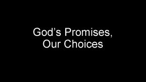 Gods Promises Our Choices Simeon Peter a servant
