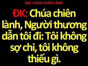 282 CHA CHIN LNH K Cha chin lnh