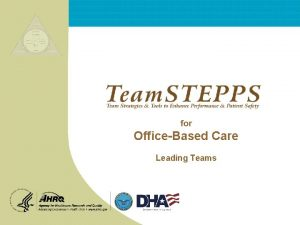for OfficeBased Care Leading Teams OfficeBased Care Leading