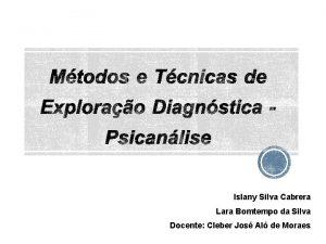 Islany Silva Cabrera Lara Bomtempo da Silva Docente