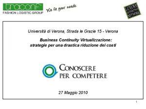 Universit di Verona Strada le Grazie 15 Verona