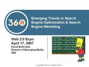 Emerging Trends in Search Engine Optimization Search Engine