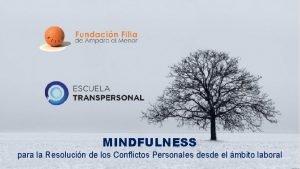 MINDFULNESS para la Resolucin de los Conflictos Personales