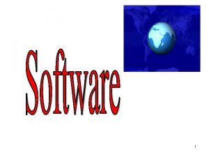 1 Software Maintenance What is Software Maintenance Software
