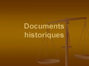 Documents historiques n Questions Rpondre sur des feuilles