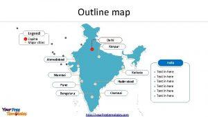 Outline map Legend Capital Major cities Delhi Kanpur