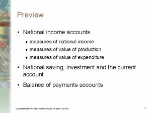 Preview National income accounts measures of national income