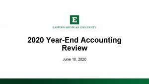 2020 YearEnd Accounting Review June 10 2020 Year