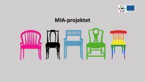 MIAprojektet Vad r MIAprojektet MIAMobilisering infr arbete Ml