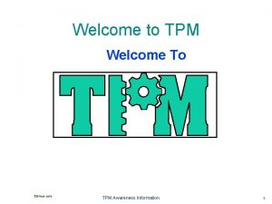 Welcome to TPM Welcome To Elsmar com TPM