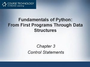 Fundamentals of Python From First Programs Through Data