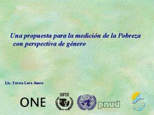 Una propuesta para la medicin de la Pobreza