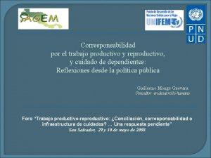 Corresponsabilidad por el trabajo productivo y reproductivo y