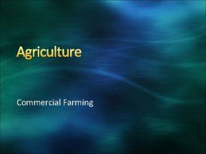 Agriculture Commercial Farming Commercial Farming Definition Commercial farmers