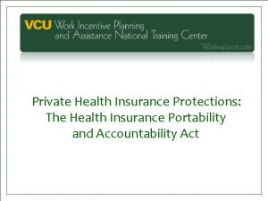 Private Health Insurance Protections The Health Insurance Portability