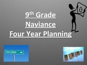 th 9 Grade Naviance Four Year Planning Welcome