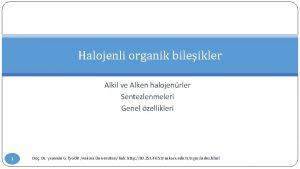 Halojenli organik bileikler Alkil ve Alken halojenrler Sentezlenmeleri