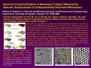 Structure Property Relation of Monolayer Catalyst Obtained by