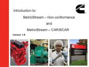 Introduction to Metric Stream Nonconformance and Metric Stream